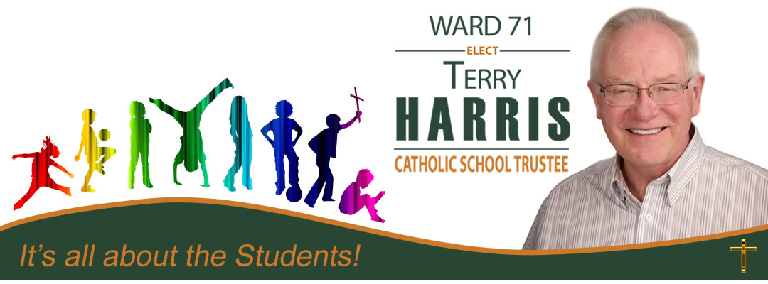 Terry Harris for Ward 71 - City of Edmonton Catholic School Board Trustee Logo