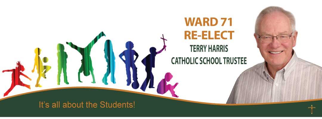 Terry Harris for Ward 71 - City of Edmonton Catholic School Board Trustee Logo